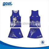 Top grade digital printing sublimation netball dress for girl