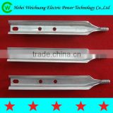 High voltage hot dip galvanized pole top pin/insulator pin spindle for transmission line hardware