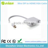 Mini Display Port DP to HDMI + VGA Adapter Cable for Apple MacBook surface Pro