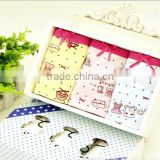 072076-H3 New children's cartoon girls cotton underwear gift box packaging baby panty