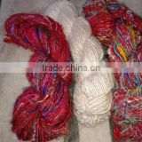 multicolored sari silk yarns for knitters, weavers, yarn stores, art and craft stores, fiber craft supply stores