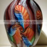 hand made glass vase and Gifts and Decor Floral Fantasia Beautiful Art Glass Vase xo-2010044A and art glass home decoration