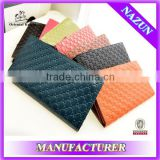 2014 the most popular genuine leather wallet wholesale customized fashion cheap long women purse