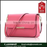 Hot sale for 2015 genuine leather lady shoulder bag, factory price evening bag diagonal package