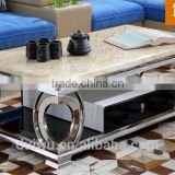 2016 italian home furniture natural marble top coffee table