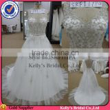 new arrival elegant V-neck lace bodice tulle ball gown wedding dress real picture wedding dress