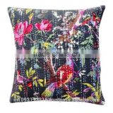 Wholesale Latest 2015 Designer Bird Print Cotton kantha sofa Cushion Covers