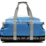 Custom made wholesale functional light blue travel bag for lady