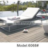 Yoshen outdoor sun lounger in rattan/wicker chaise lounger daybed stainless steel daybed