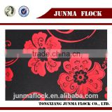 Manufacturer China Textile Black blacking Red flower pattern, Woven Fabric for western textile