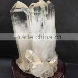Wholesale nature subtransparent crystal point/wand for furnish and decorate