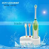 Travel soft electric toothbrush with toothbrush head baby banana bendable training toothbrush HQC-013
