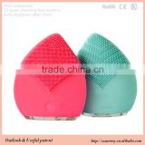 Soft color rechargeable silicone facial cleanser brush condenser tube brush tube cleaning brushes