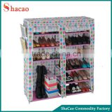 Polka Dots Plastic Boots Storage Rack Cabinet Closet Shoe Organizer