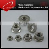 DIN6923 DIN6926 GB6183 RoHS zinc plated stainless steel hexagon flange nut for DIN6921 bolt