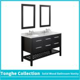 Modern Hotel Bathroom Cabinetry Vanity Open Bottom Plenty Storage