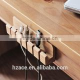 Wooden Cable and Charger Organizer Cable Management for Power Cords and Charging Cables