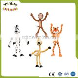 custom make metal wire bendable figure plastic toys, plastic bendable figures with wire posable