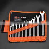 New Designed OEM Service 10 Pcs High Impact Chrome Vanadium Steel Handle Combination Spanner Tool Set