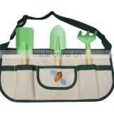 2016 hot sale!! new fashionalbe garden tool set in apron for kids and chrildren