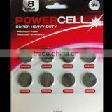 8 PK Green max button cell batteries