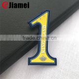 High end pvc rubber cloth label backing heat adhesive iron patch