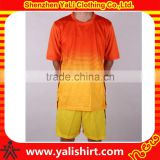 Hot sale popular cheapest short sleeve quick dry polyester new model training football jersey set