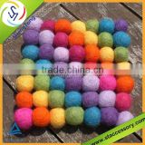 high quality wool felt ball/felt wool balls