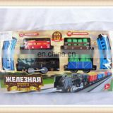 Hot sell plastic battery operated trains and railway toy railway train