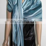JDC-153_10#: cashmere shawl with colorized stripe pattern african shawl