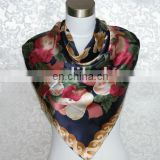 ladies' fashion satin square shawl
