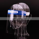 Clear PET Lightweight Plastic Adjustable Recycle  Face Shield