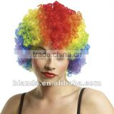 Rainbow Economy Afro Clown Wig