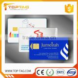 Customized printing IC card free sample contact smart IC chip card for vip membership card
