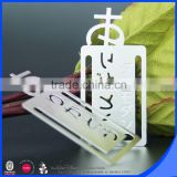 Wholesale 304 stainless steel metal bookmarks