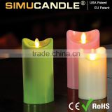 dancing flame led candle in candles with USA and EU patent with Timer & Remote control