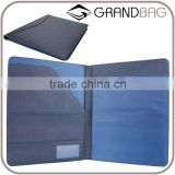 Wholesale High Quality CONTRAST COLOR Genuine Saffiano Leather Office File Bag Document Folder