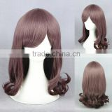 wholesale 40CM short coffe curly edge Lolita cute bob girls wig