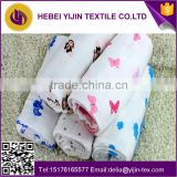 Double layer cotton muslin printed fabric baby blankets                                                                                                         Supplier's Choice