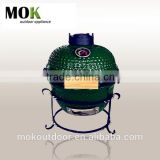 portable mini 13 inch ceramic kamado stainless steel charcoal BBQ grill
