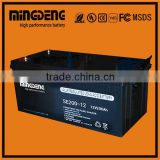 Sealed Sealed Type battery 12v maintenance free storage deep cycle 200ah with low price