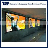 Super large advertising metro light box, backlit led advertising poster flex banner light box