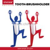 D321 Bathroom Accessory Plastic Toothbrush Holder With Suction Cup Wall Mounted Superman Toothbrush holder