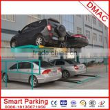 pjs 2 post 3 layer simple mechanical intelligent stack parking car lift system