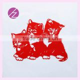 Handmade China home decoration traditional paper-cut with three lovely cat JZ-25