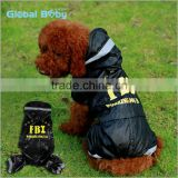 Hot Sale Reflective USA FBI Working Dog Waterproof Raincoat