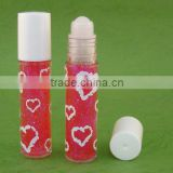 Roll on bottle w Cosmetic grade body glitter gel