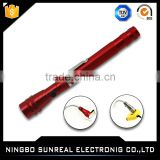 3 LED Telescopic Aluminium Work Flashlight With Magnet