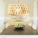 Wooden LED pendant light JK-8005B-07 Modern wood lotus chandelier light/pendant lamp on sale