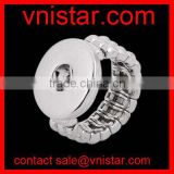 Vnistar interchangeable snap button ring adjustable size wholesale NR001